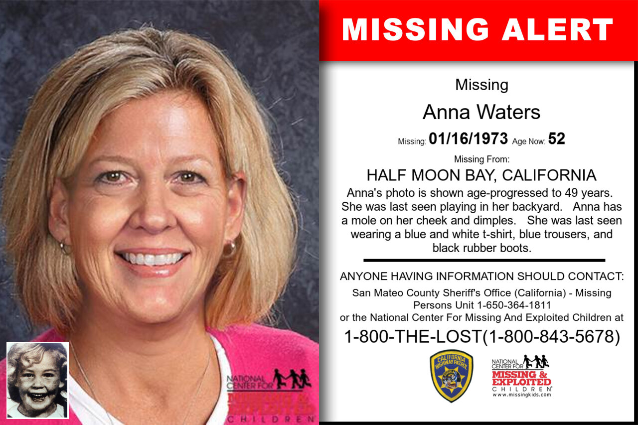 ANNA_WATERS missing in California