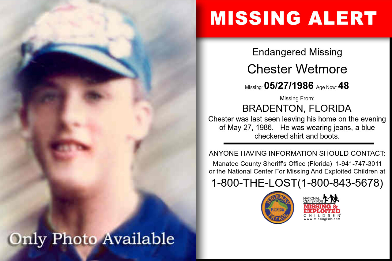 CHESTER_WETMORE missing in Florida