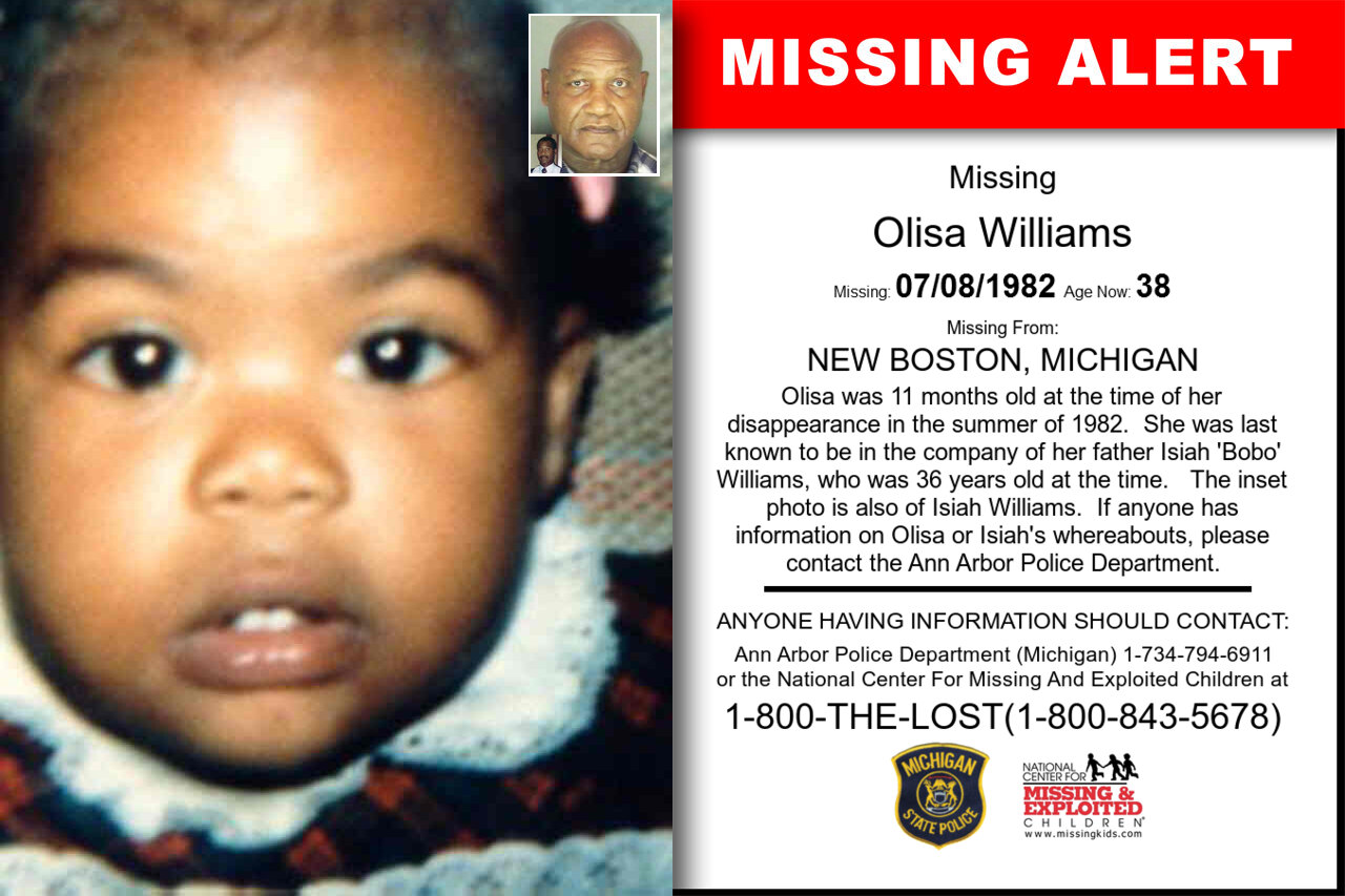 Olisa_Williams missing in Michigan