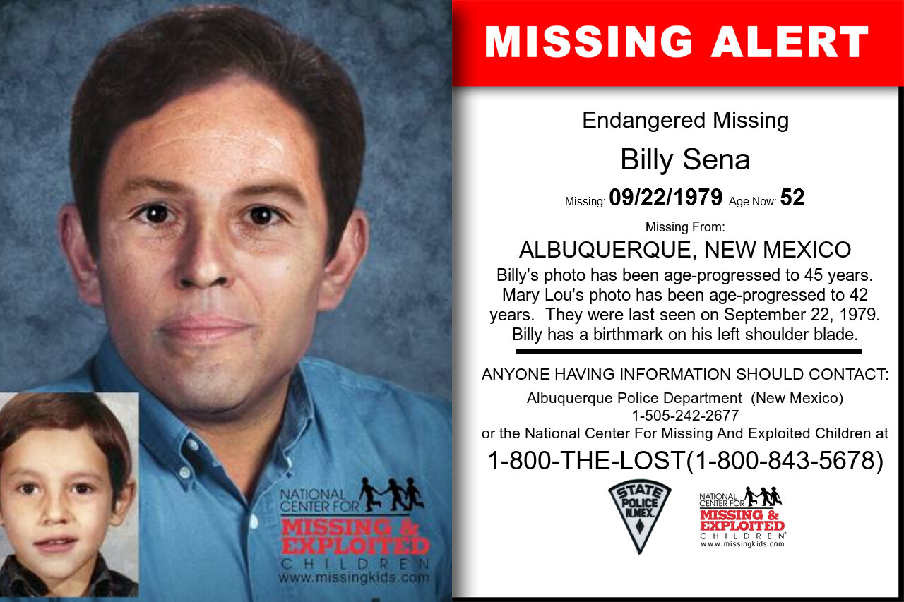 Billy_Sena missing in New_Mexico