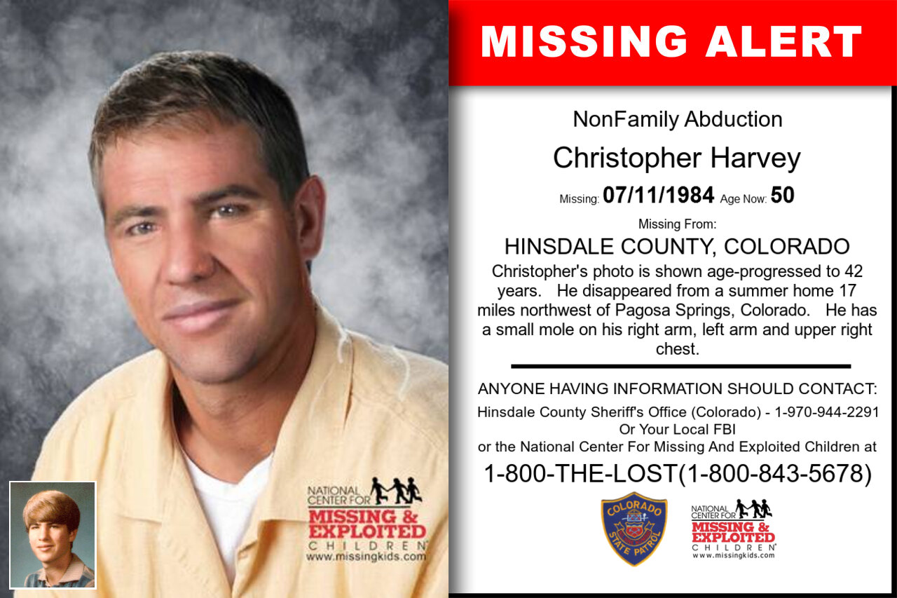 Christopher_Harvey missing in Colorado