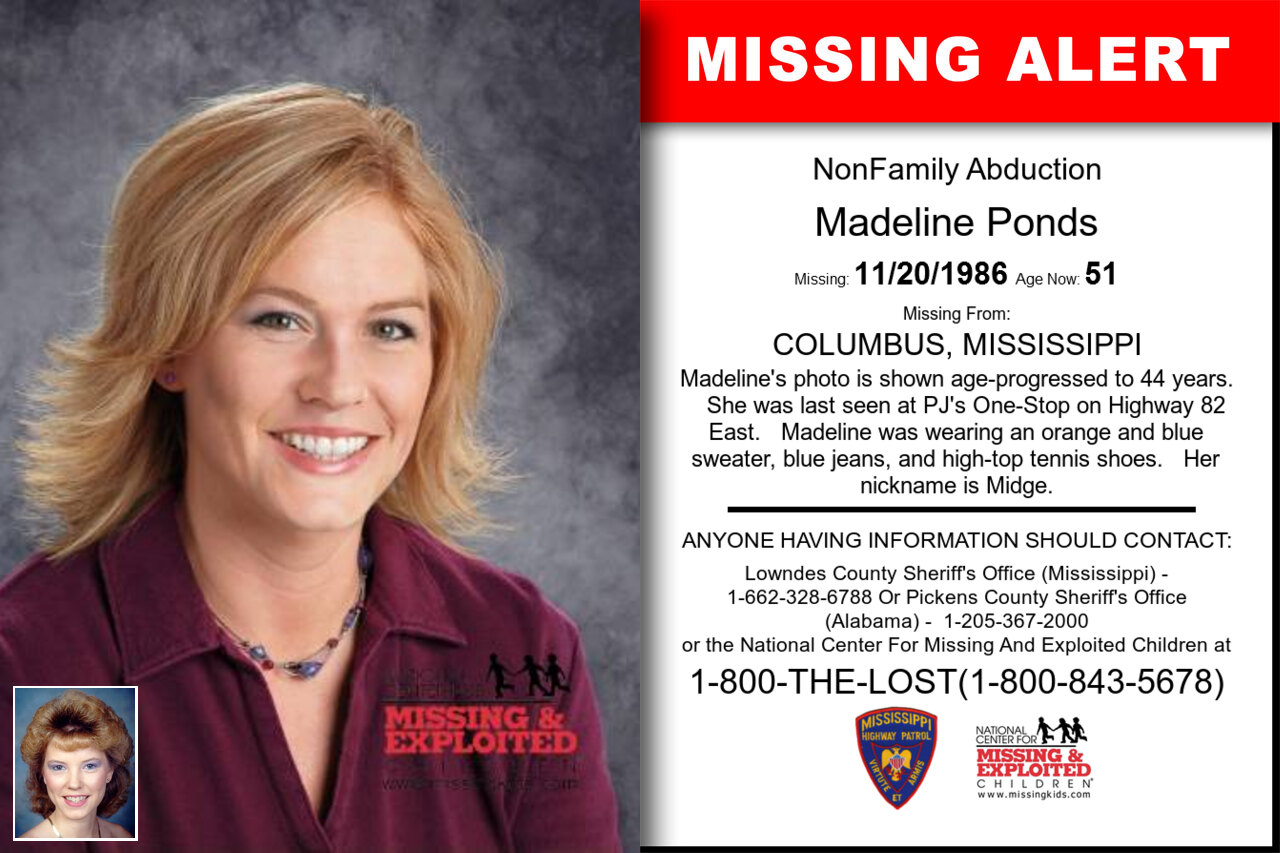 Madeline_Ponds missing in Mississippi