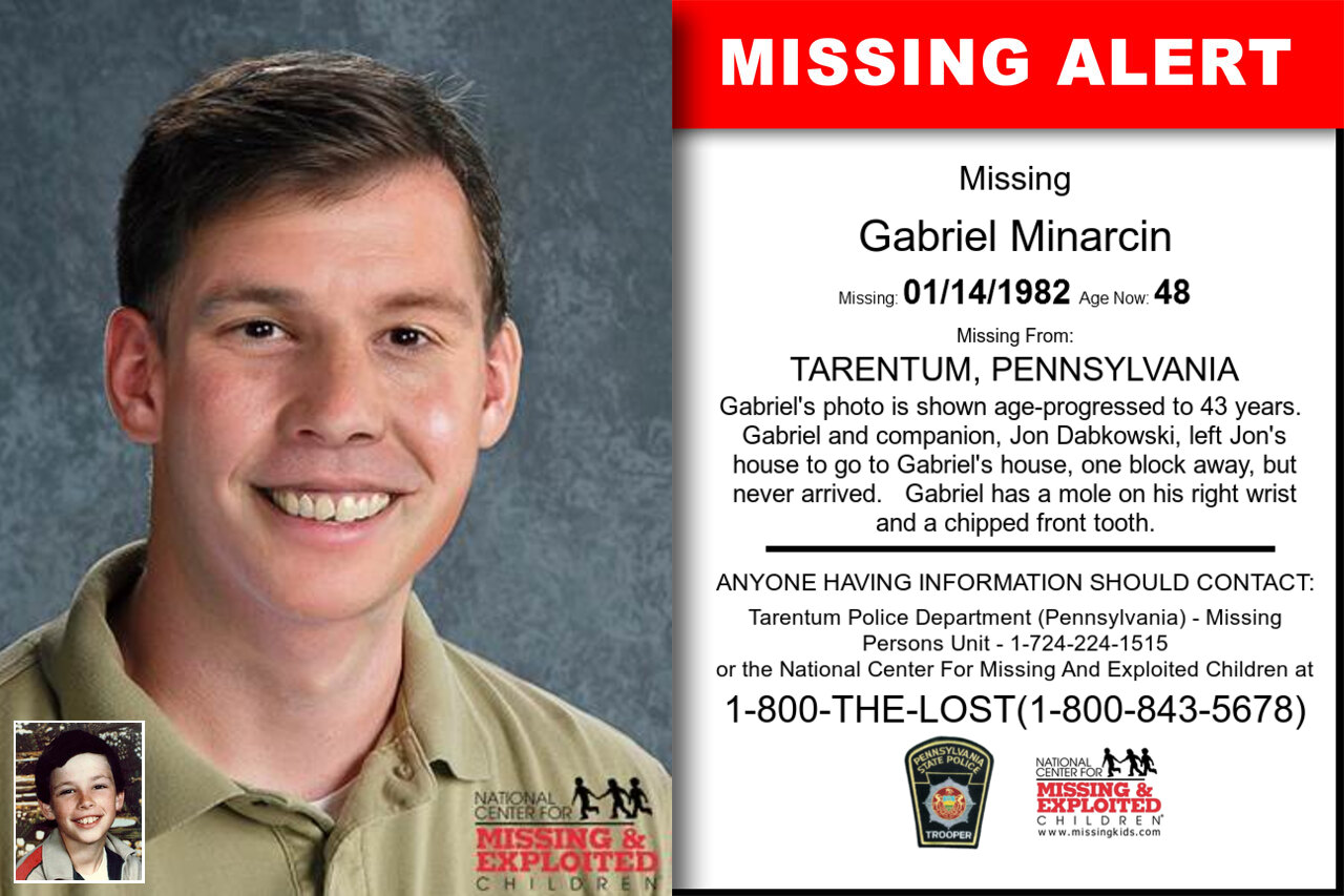GABRIEL_MINARCIN missing in Pennsylvania