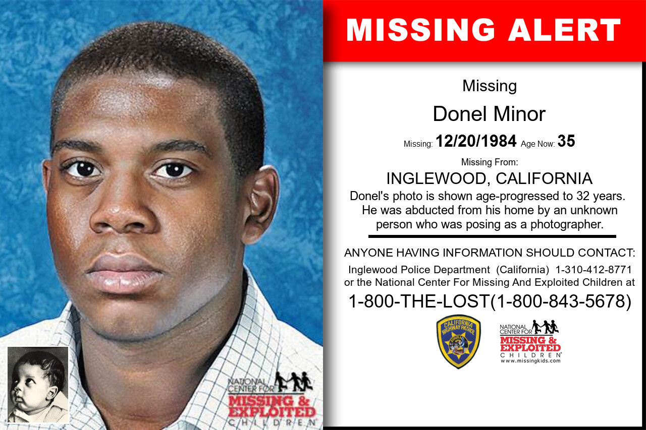 Donel_Minor missing in California