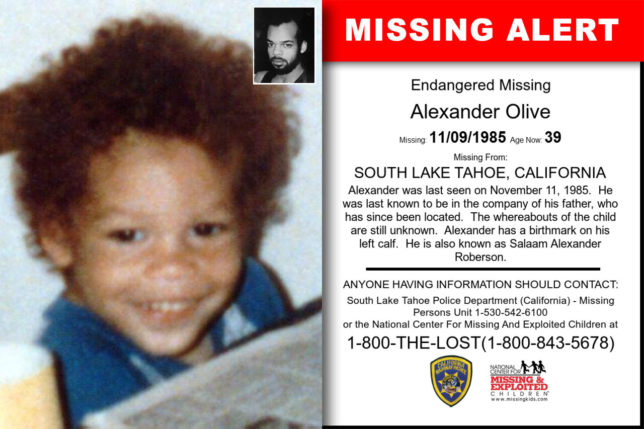 Alexander_Olive missing in California