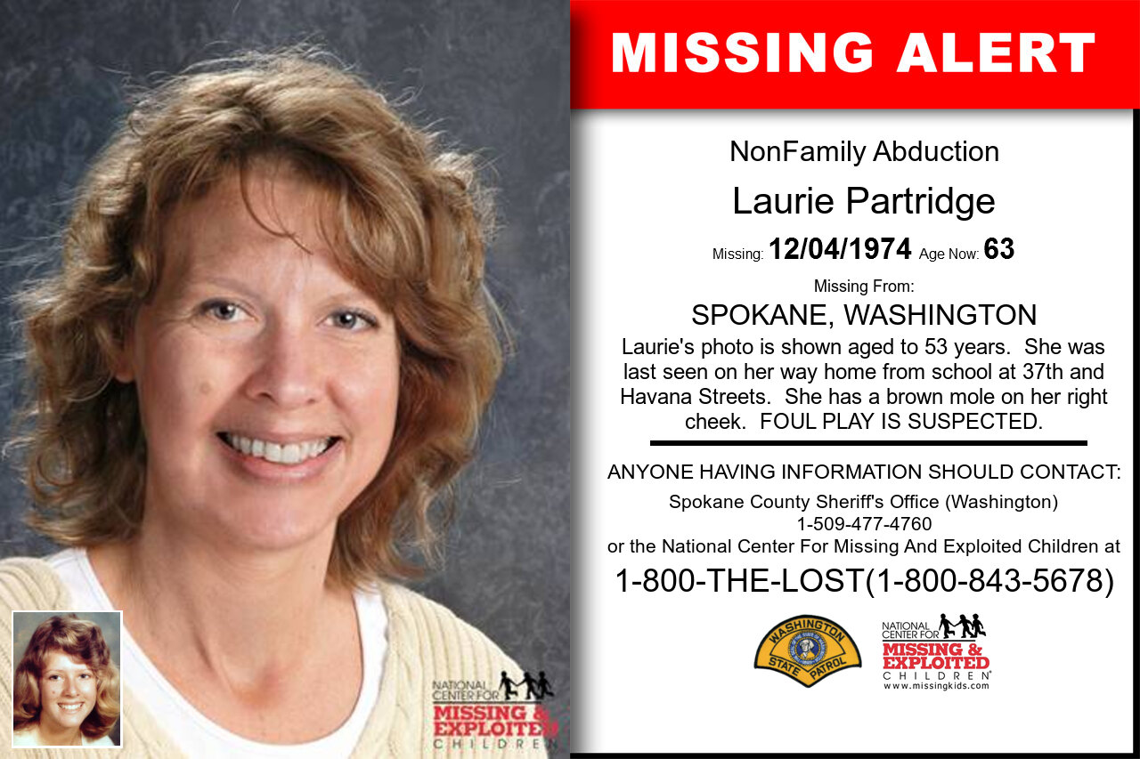 Laurie_Partridge missing in Washington