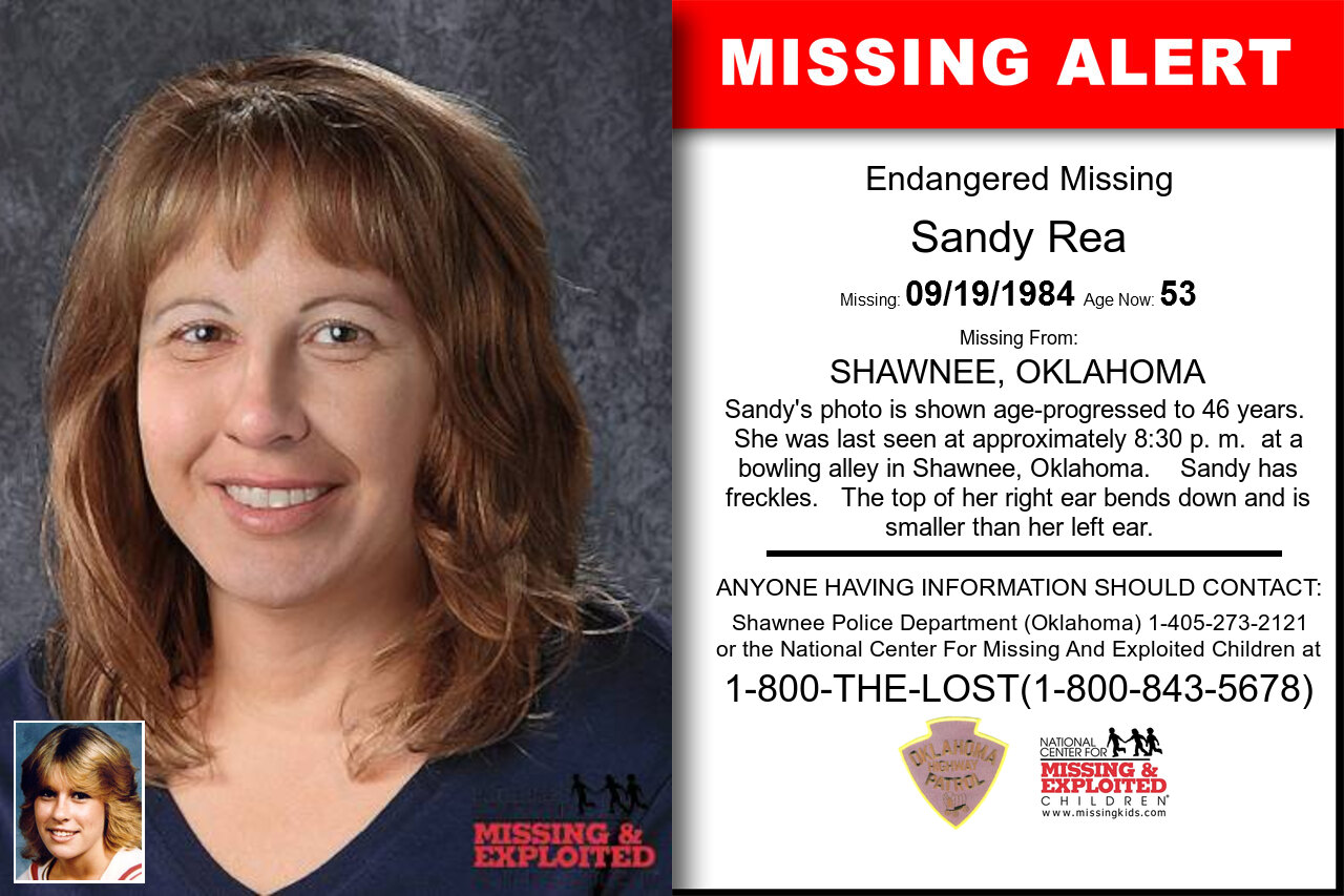 Sandy_Rea missing in Oklahoma