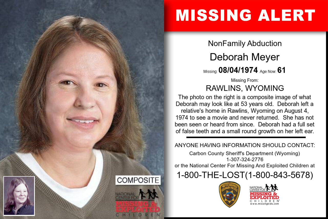Deborah_Meyer missing in Wyoming