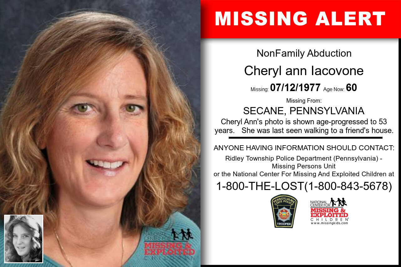 CHERYL_ANN_IACOVONE missing in Pennsylvania