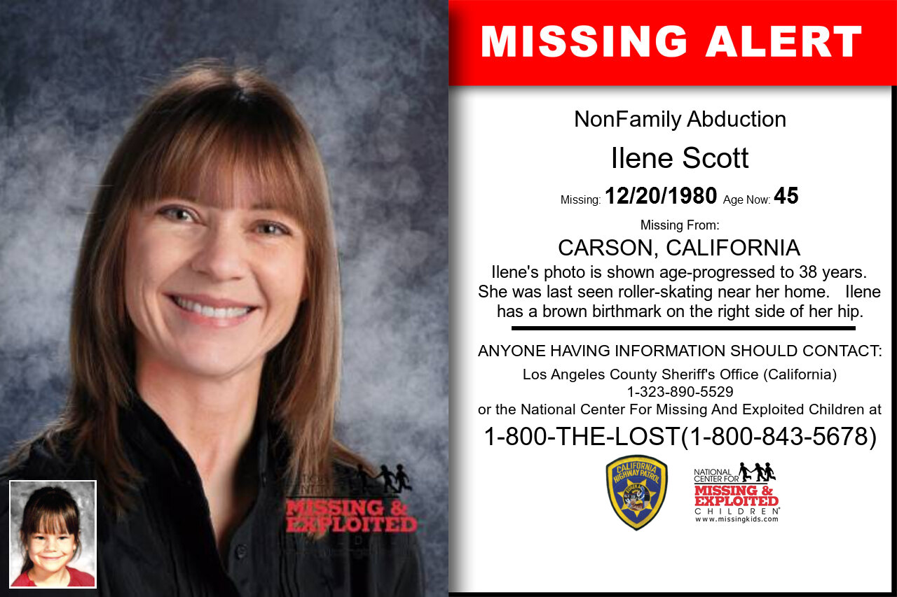 Ilene_Scott missing in California