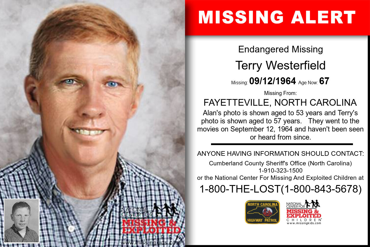 TERRY_WESTERFIELD missing in North_Carolina