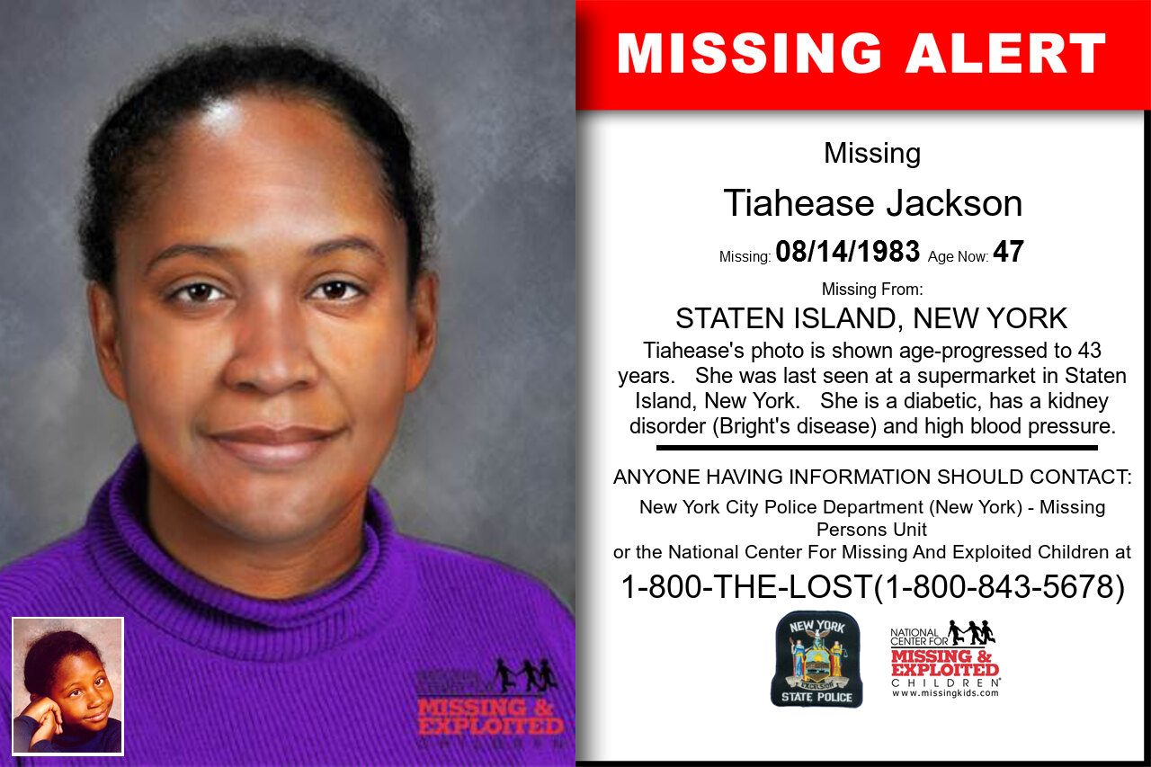 Tiahease_Jackson missing in New_York