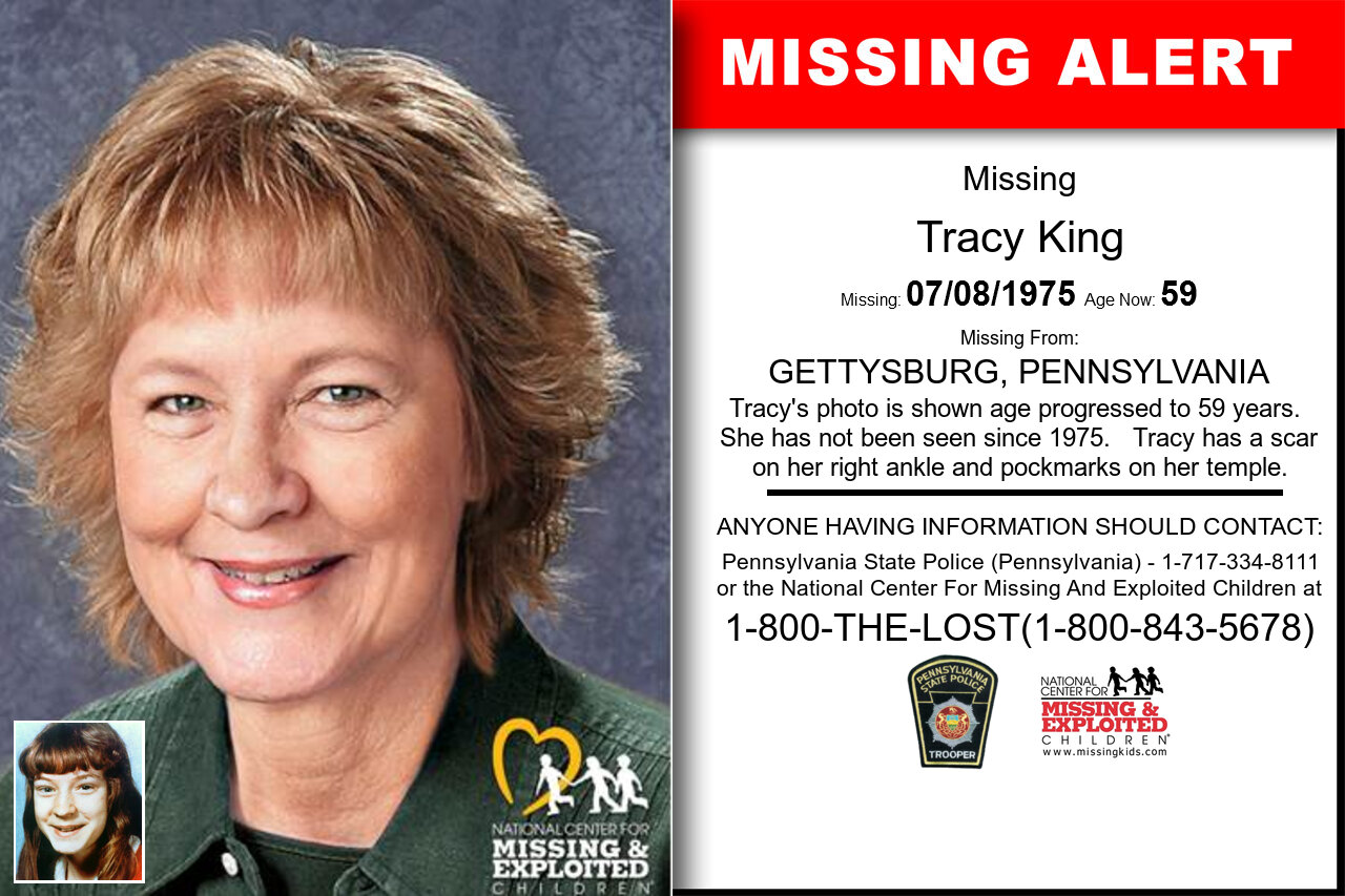 TRACY_KING missing in Pennsylvania