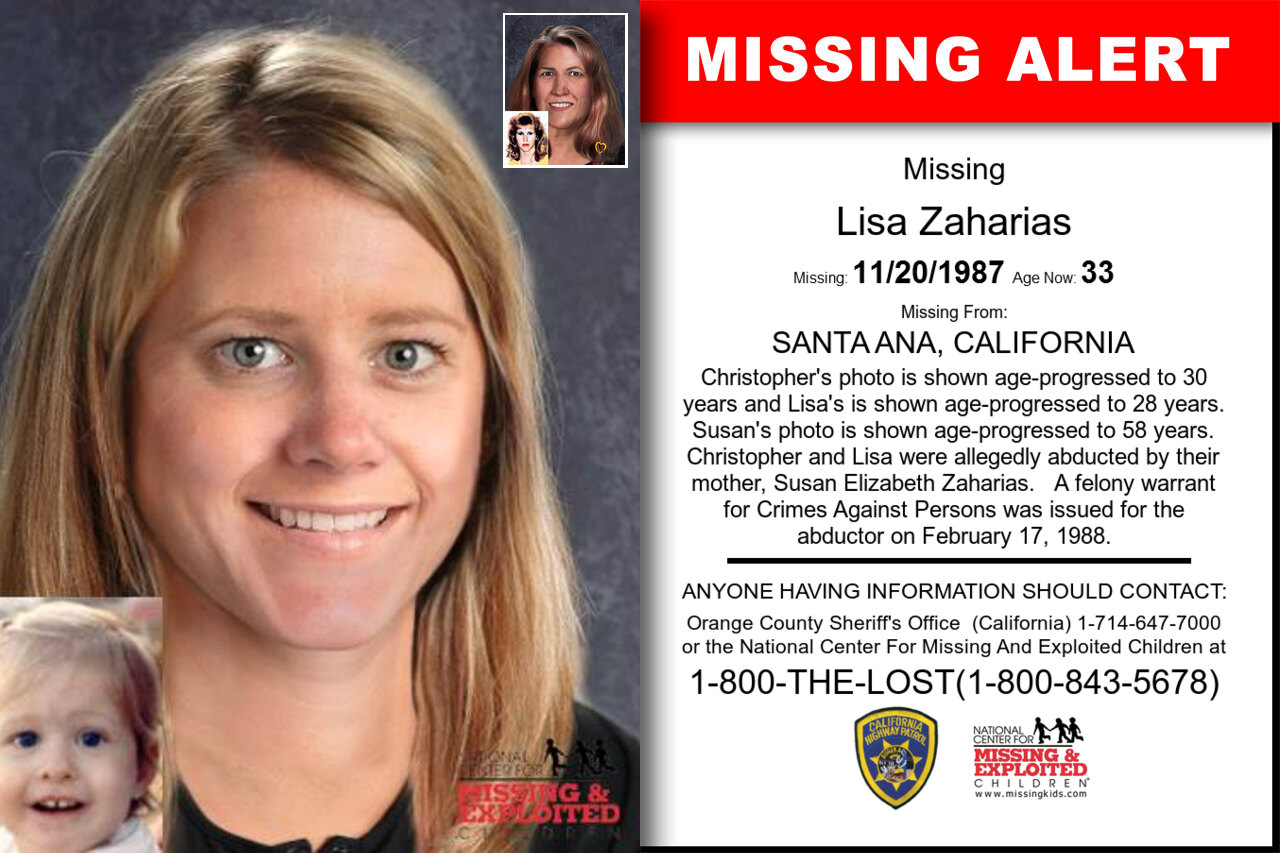 Lisa_Zaharias missing in California