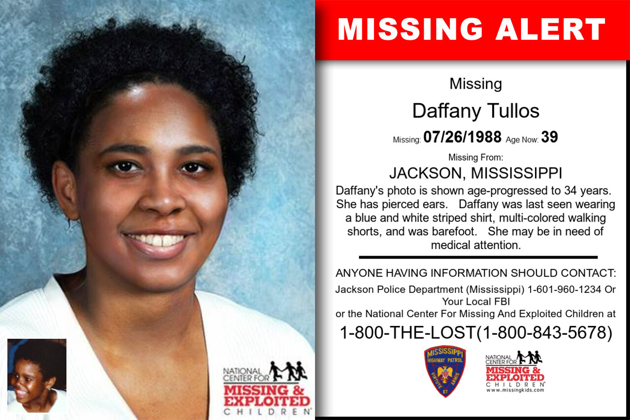 DAFFANY_TULLOS missing in Mississippi