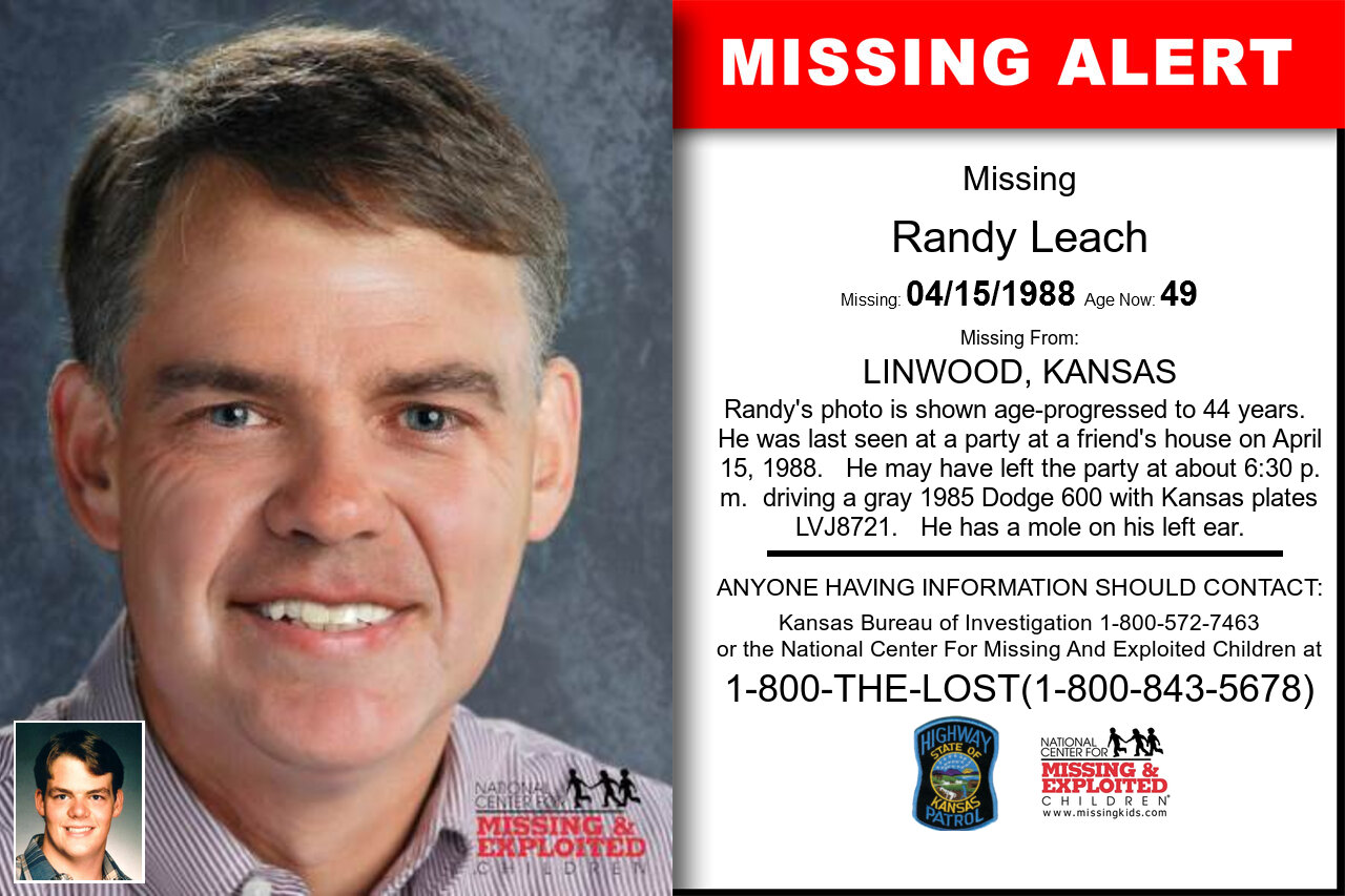 RANDY_LEACH missing in Kansas