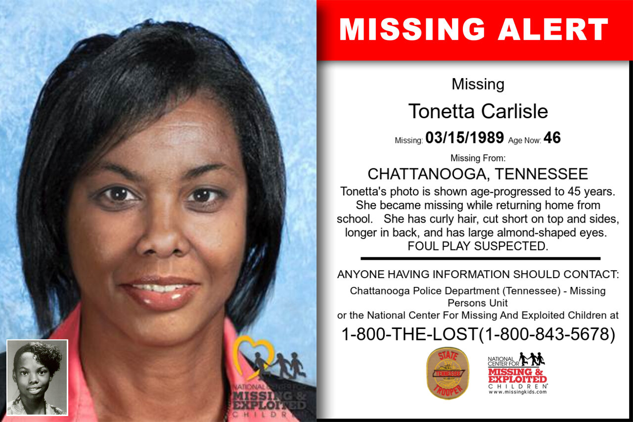 TONETTA_CARLISLE missing in Tennessee