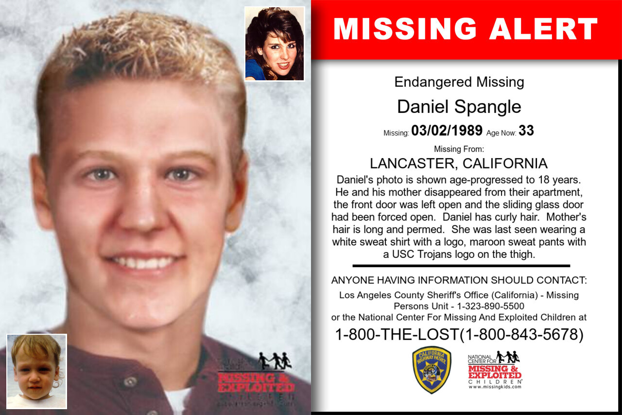 DANIEL_SPANGLE missing in California