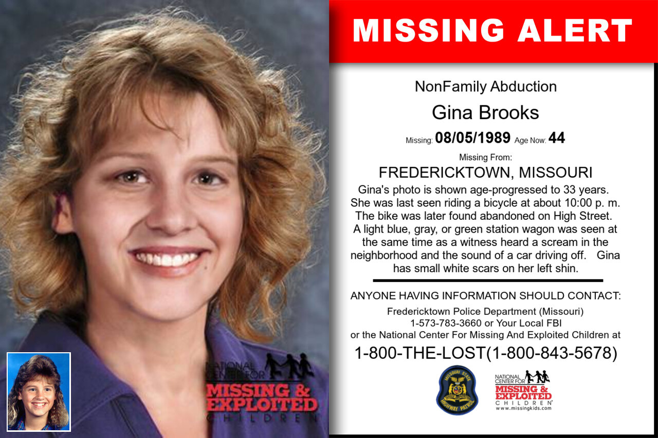 GINA_BROOKS missing in Missouri
