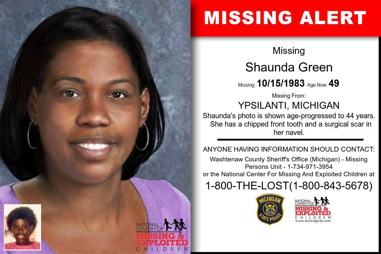 Shaunda_Green missing in Michigan