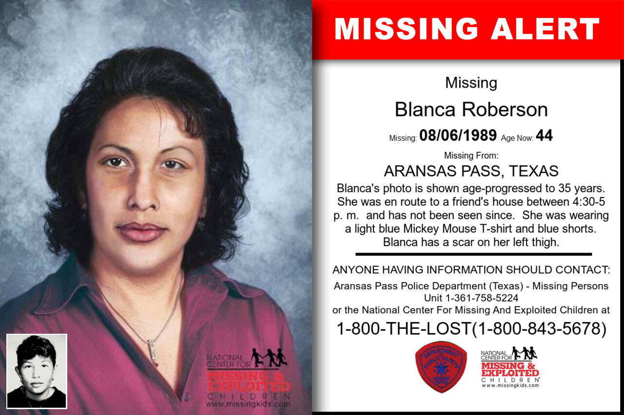 Blanca_Roberson missing in Texas