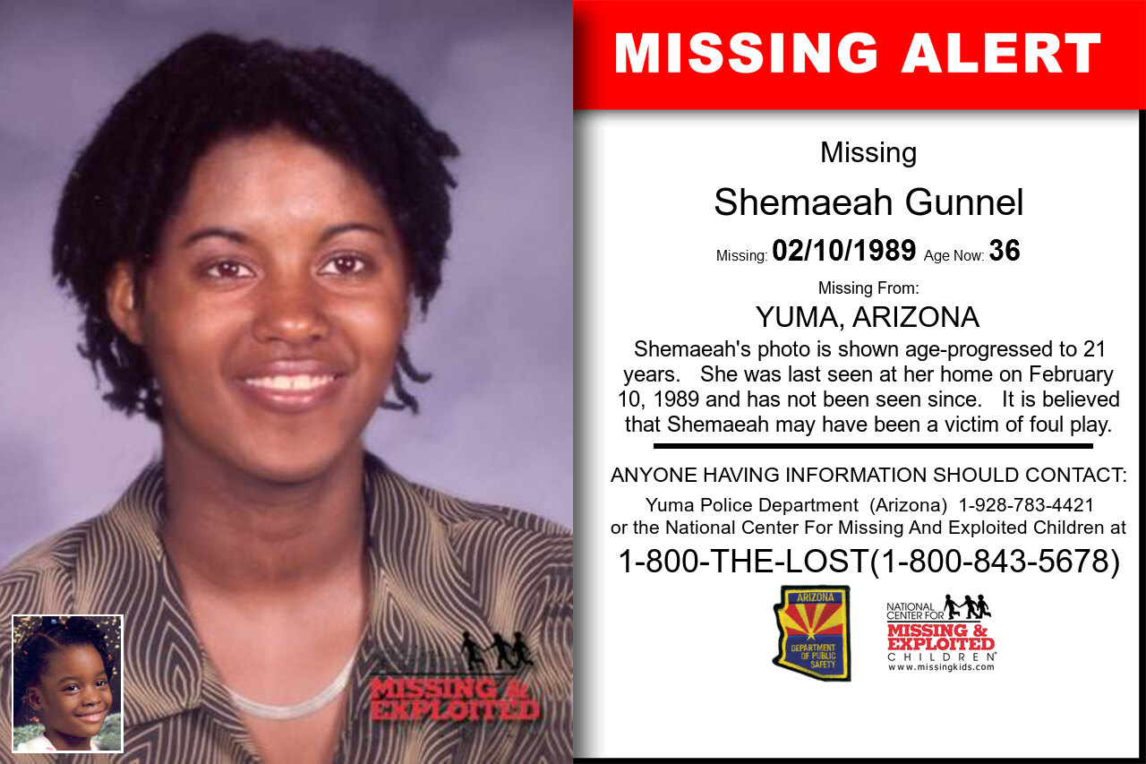 Shemaeah_Gunnel missing in Arizona