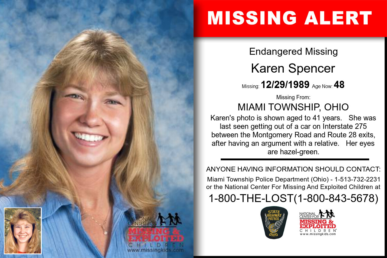 Karen_Spencer missing in Ohio