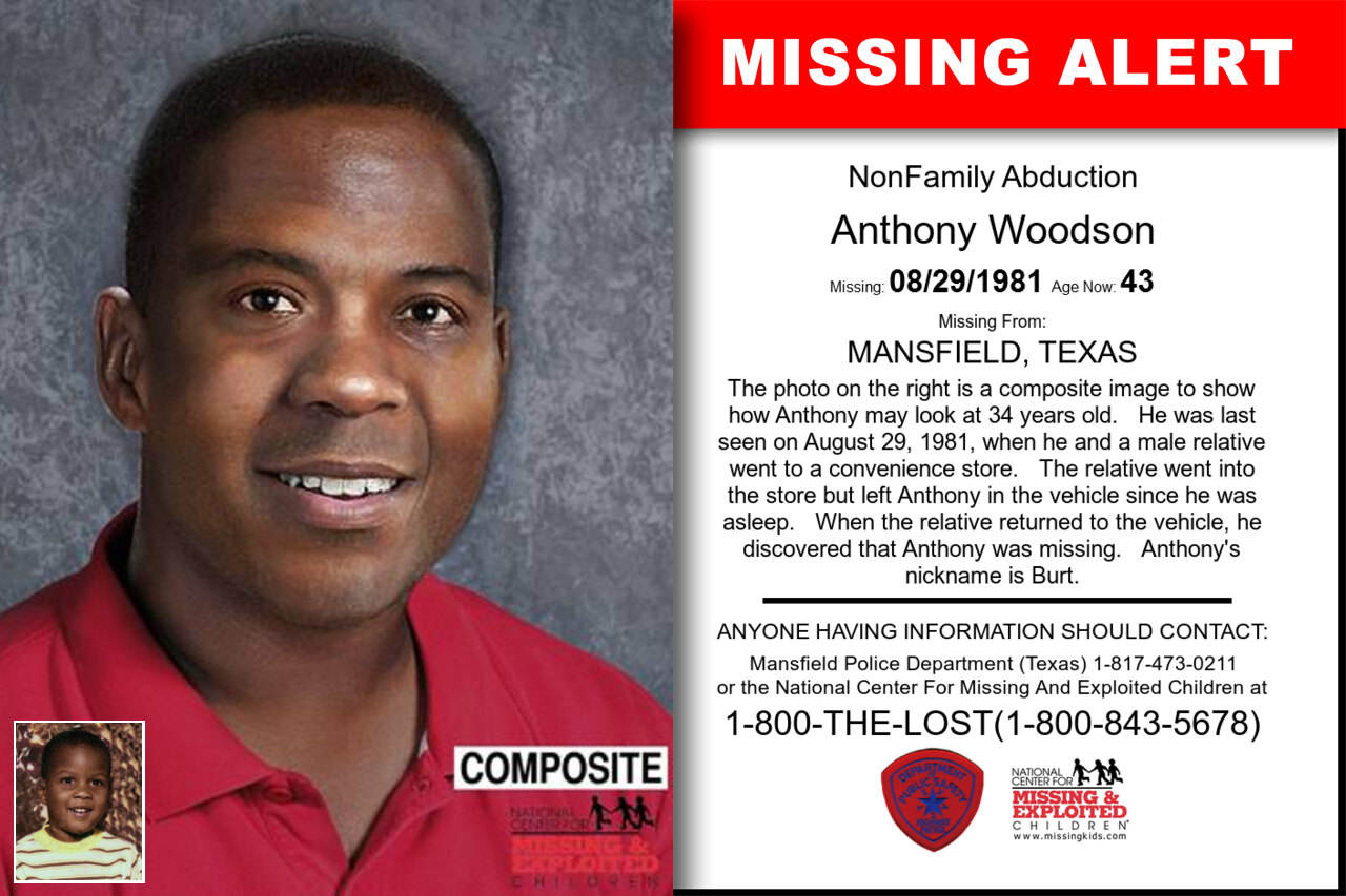 ANTHONY_WOODSON missing in Texas