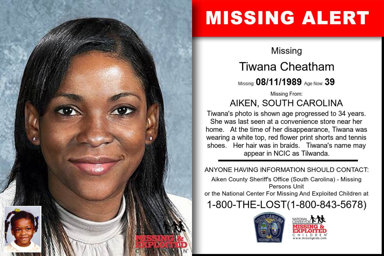 Tiwana_Cheatham missing in South_Carolina