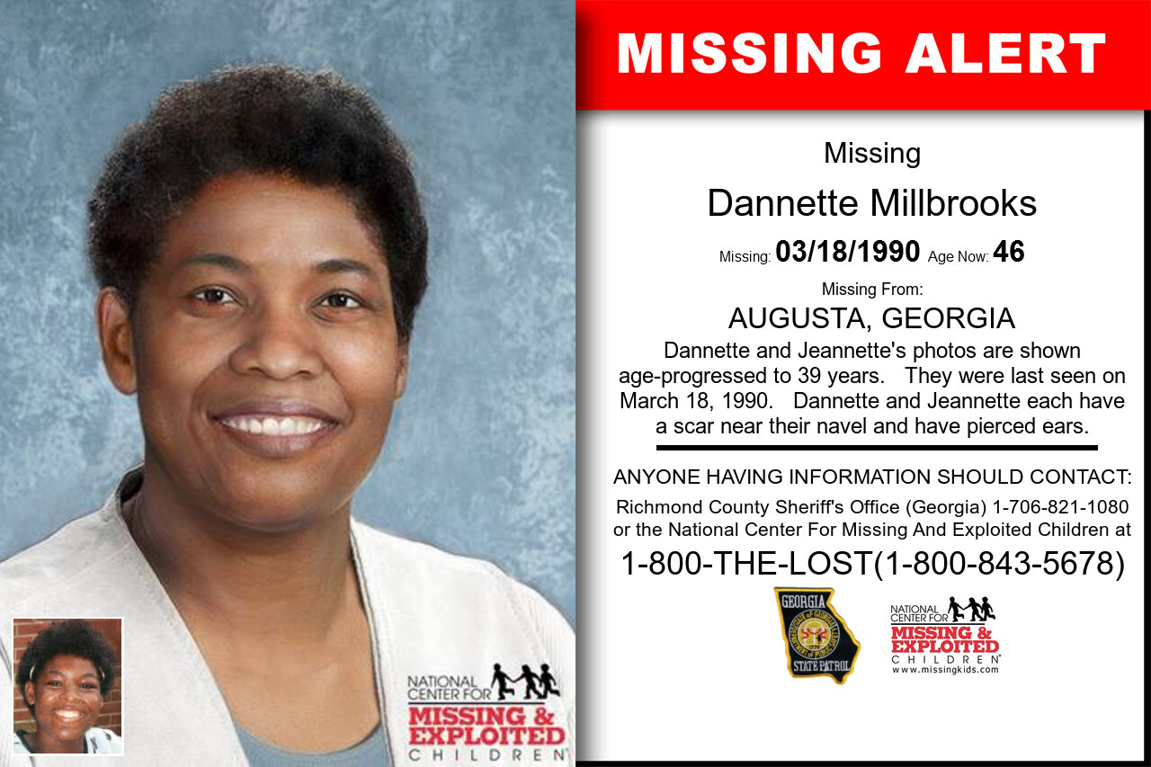 DANNETTE_MILLBROOKS missing in Georgia
