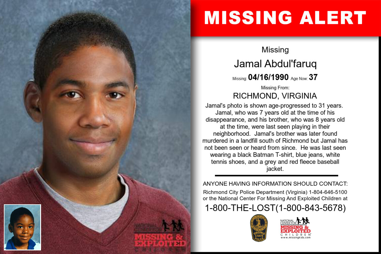 JAMAL_ABDUL'FARUQ missing in Virginia