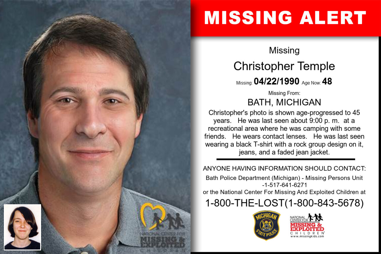 CHRISTOPHER_TEMPLE missing in Michigan