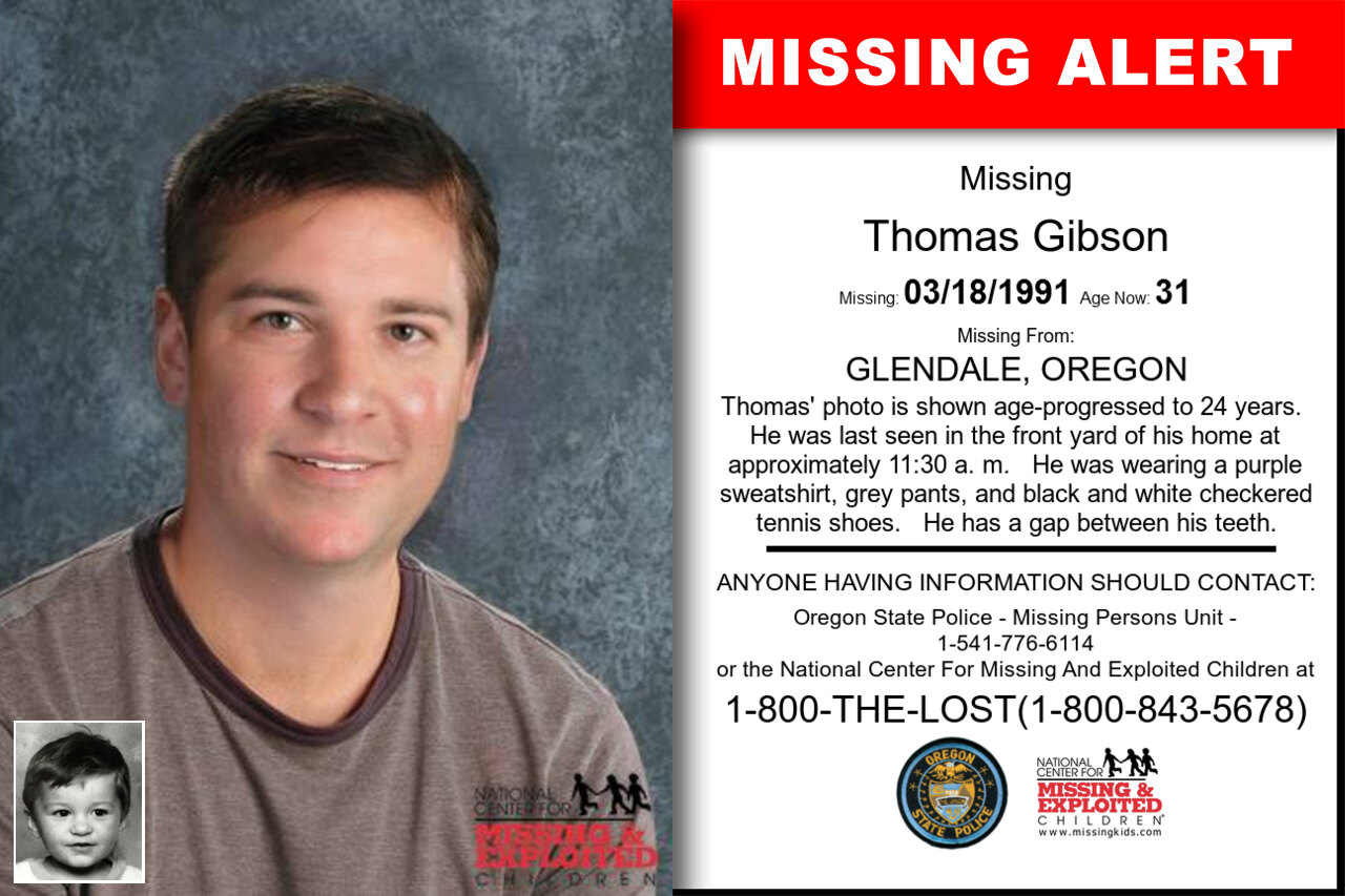 THOMAS_GIBSON missing in Oregon