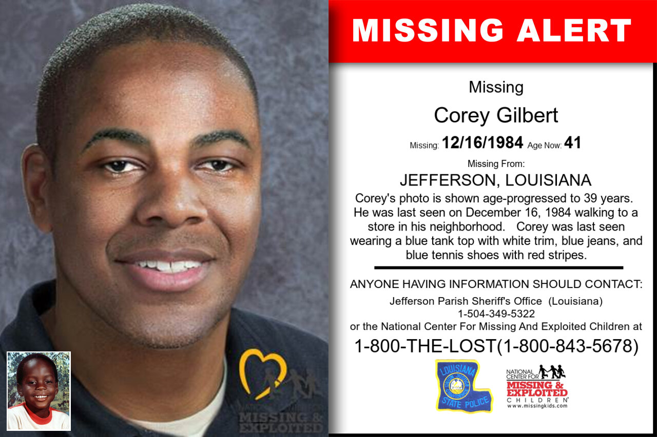 COREY_GILBERT missing in Louisiana