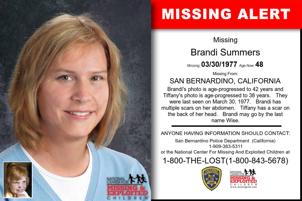 Brandi_Summers missing in California