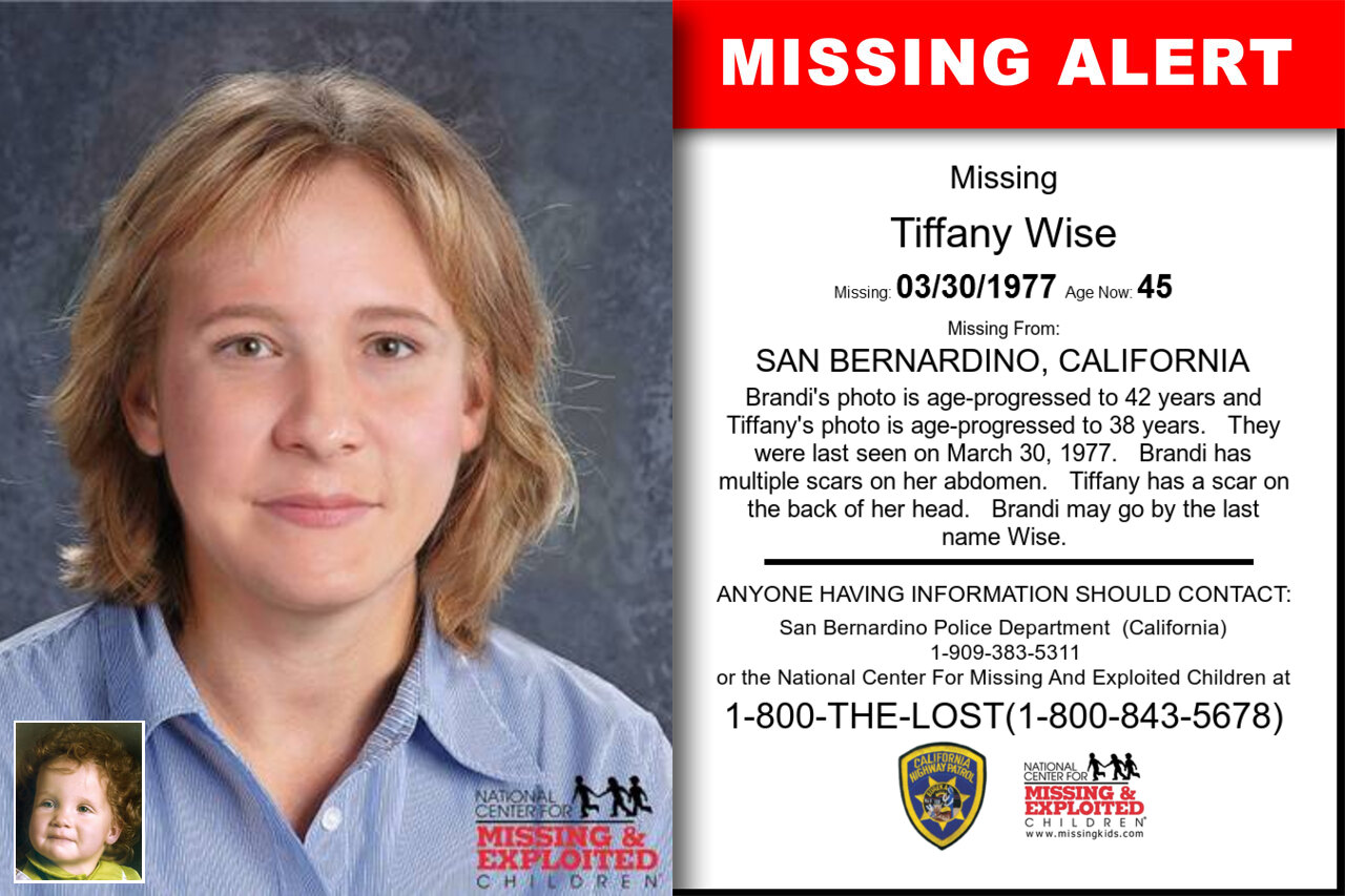 TIFFANY_WISE missing in California