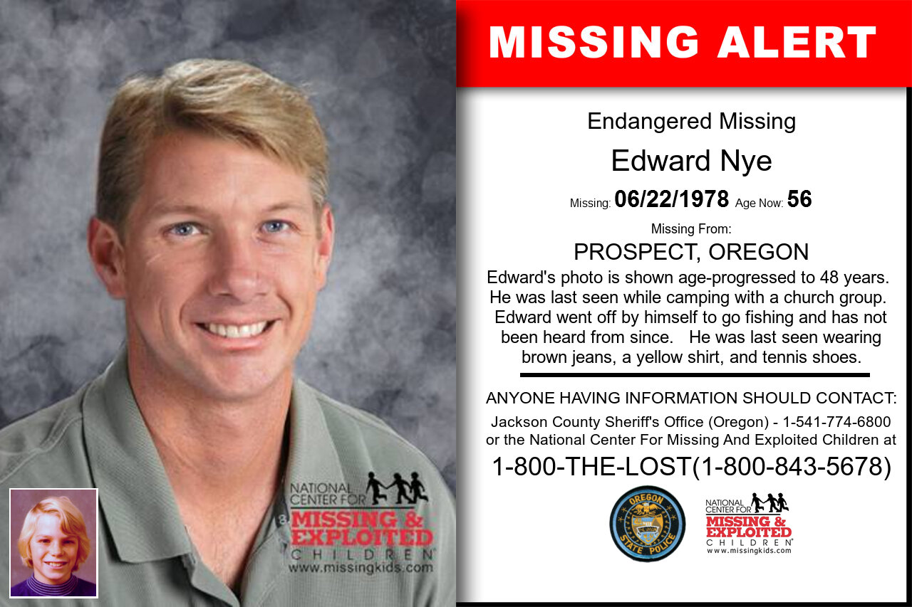 Edward_Nye missing in Oregon