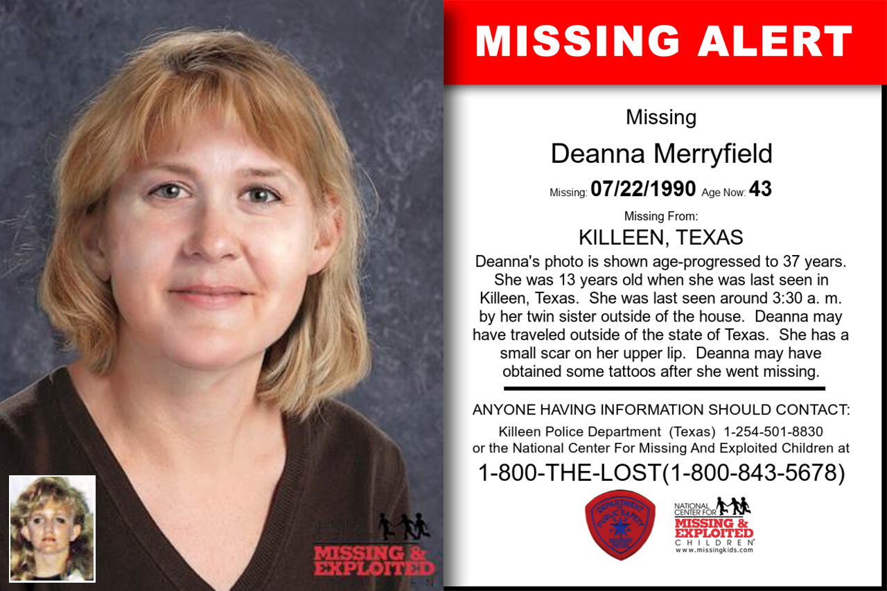 DEANNA_MERRYFIELD missing in Texas