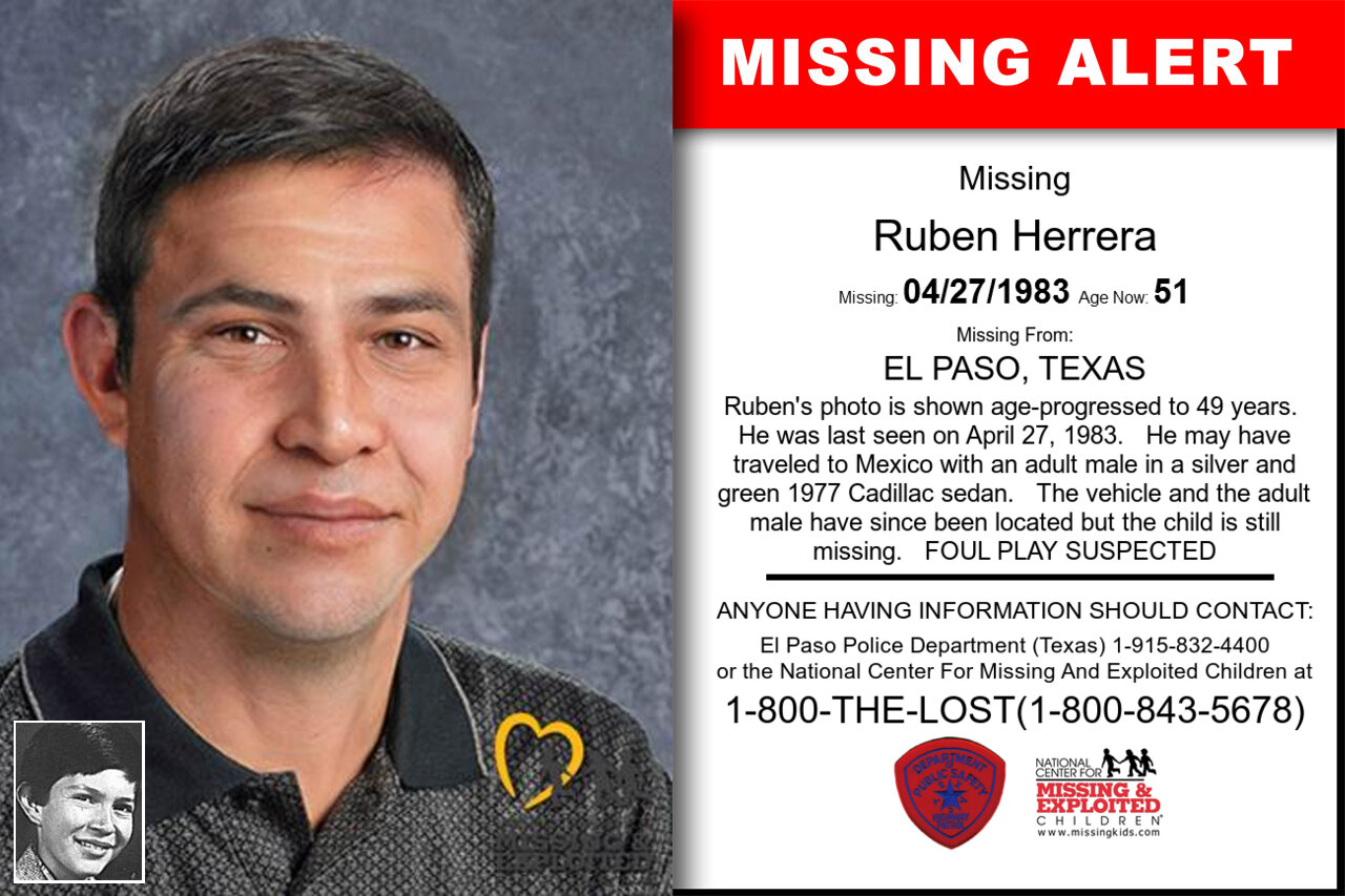RUBEN_HERRERA missing in Texas
