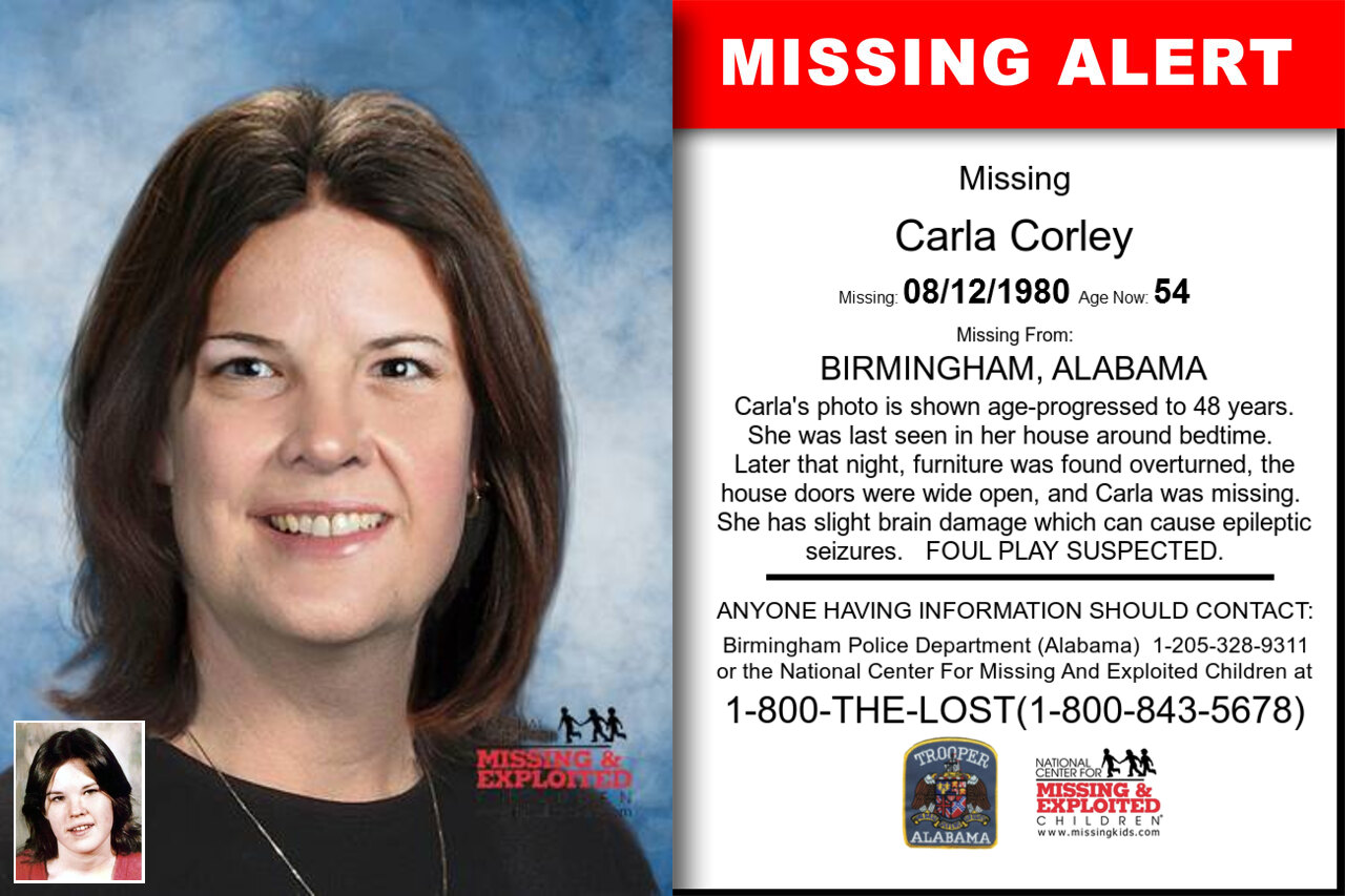 Carla_Corley missing in Alabama