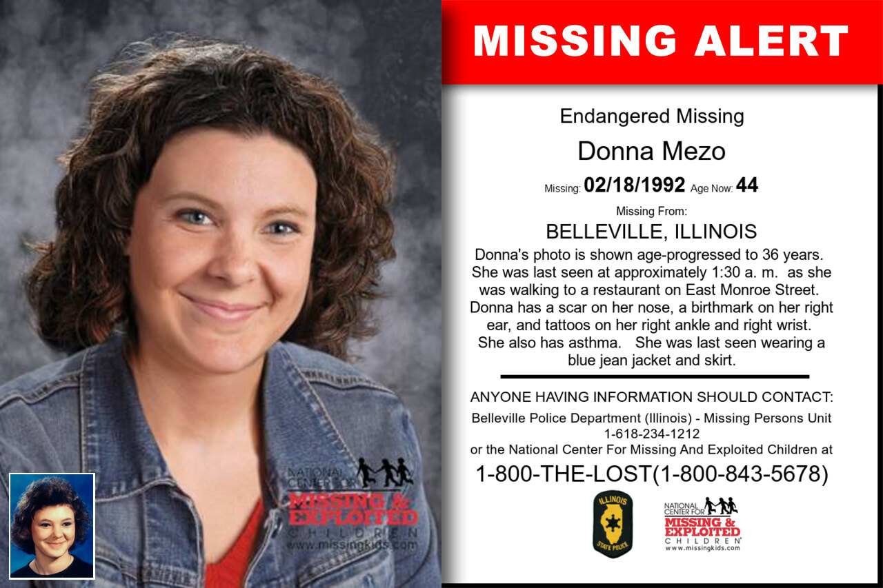 DONNA_MEZO missing in Illinois