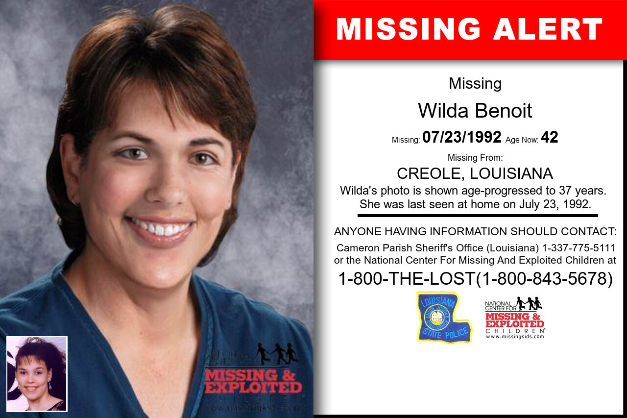 WILDA_BENOIT missing in Louisiana