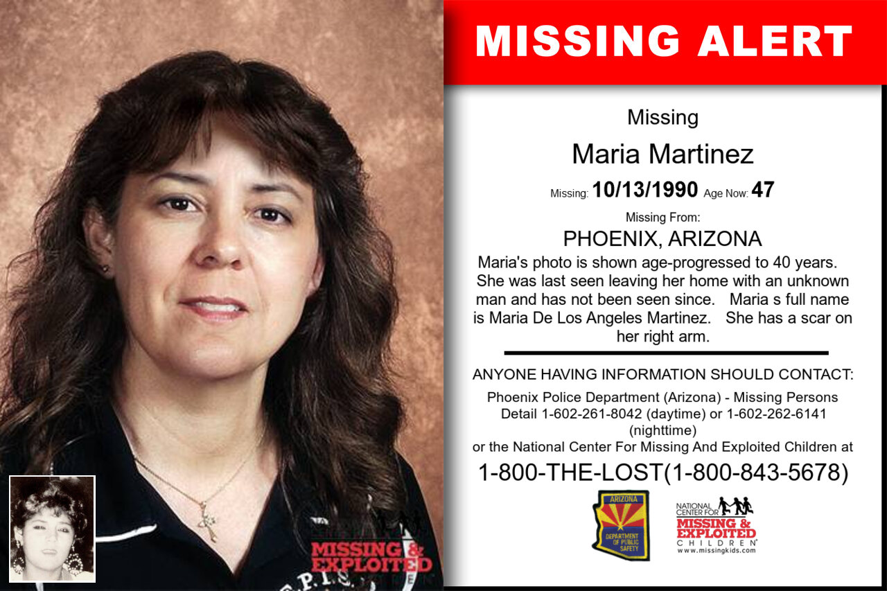 Maria_Martinez missing in Arizona
