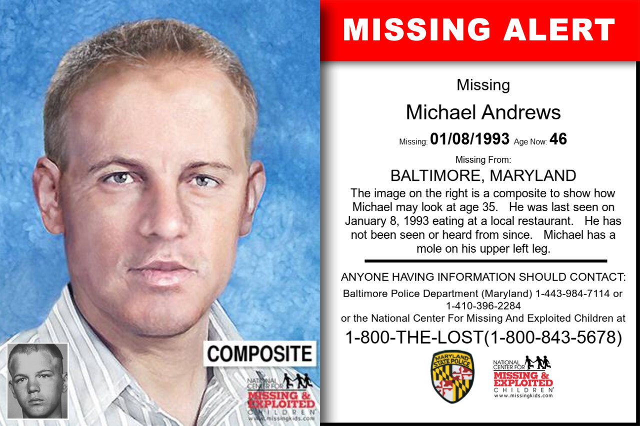 Michael_Andrews missing in Maryland