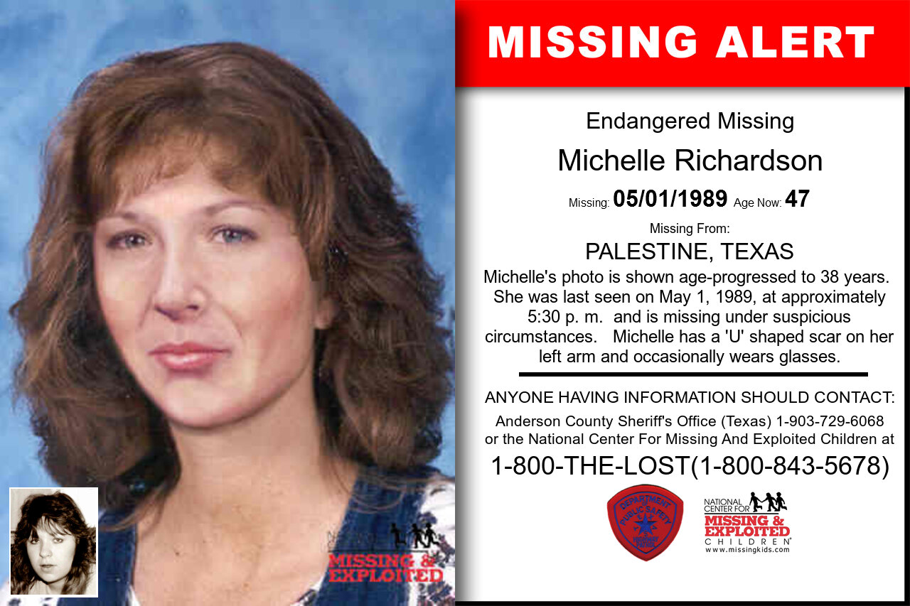 MICHELLE_RICHARDSON missing in Texas