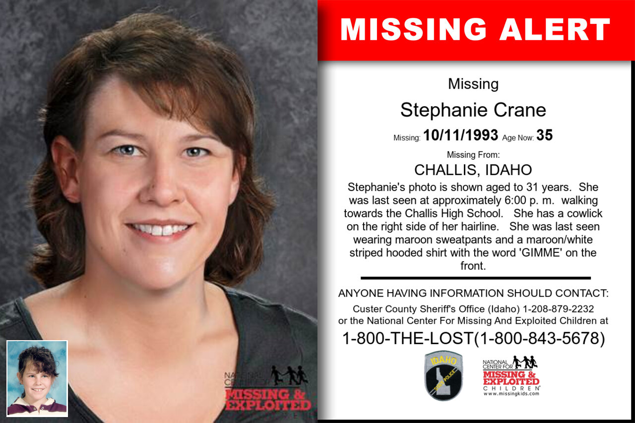 Stephanie_Crane missing in Idaho