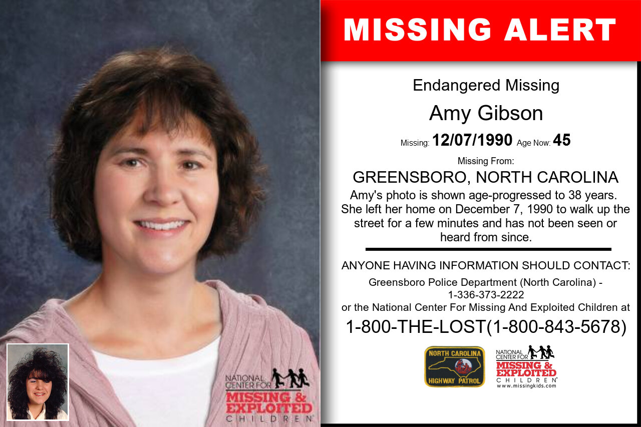 Amy_Gibson missing in North_Carolina