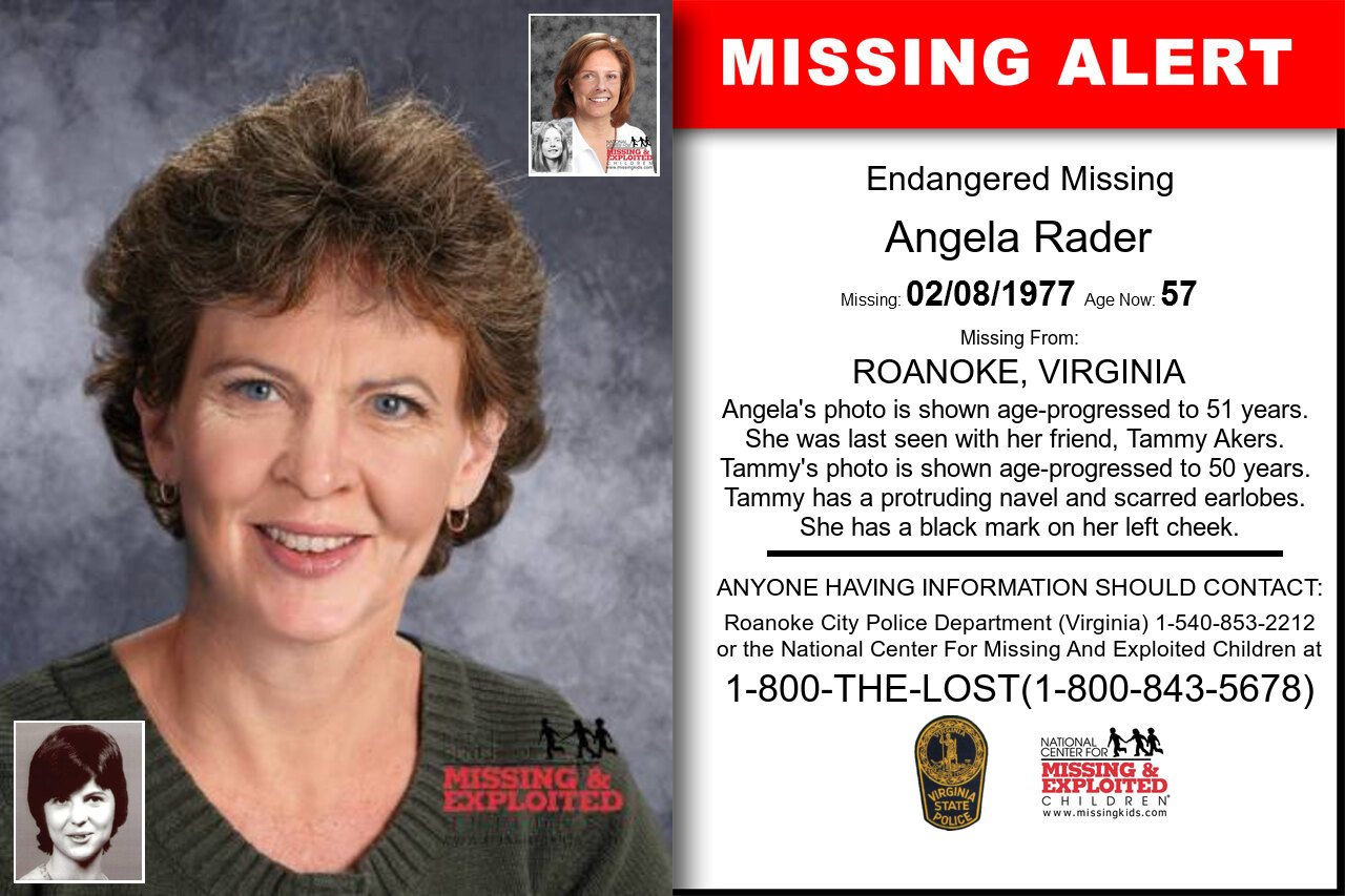 ANGELA_RADER missing in Virginia