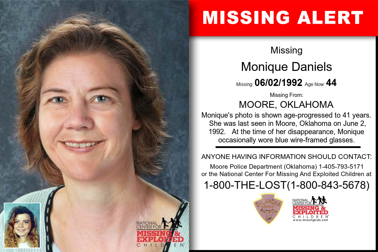 MONIQUE_DANIELS missing in Oklahoma