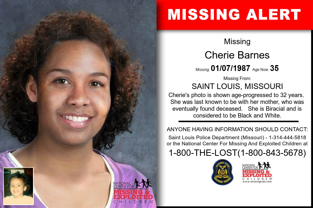 CHERIE_BARNES missing in Missouri